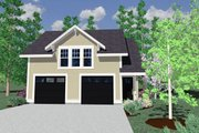 Country Style House Plan - 1 Beds 1 Baths 675 Sq/Ft Plan #509-39 Exterior - Other Elevation