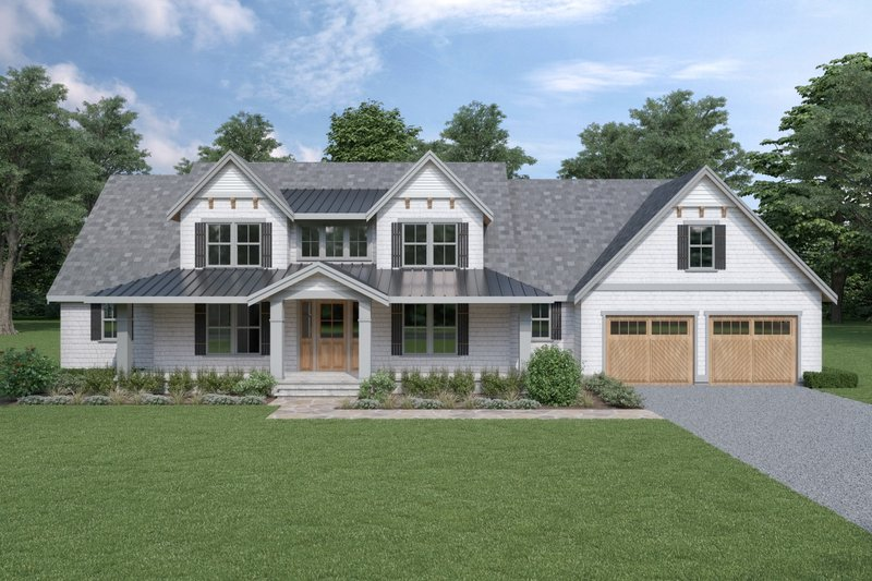 Cottage Exterior - Front Elevation Plan #1070-72