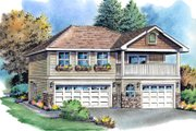 Traditional Style House Plan - 2 Beds 2 Baths 877 Sq/Ft Plan #18-319 Exterior - Front Elevation