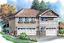 Home Plan Design - Traditional Exterior - Front Elevation Plan #18-319