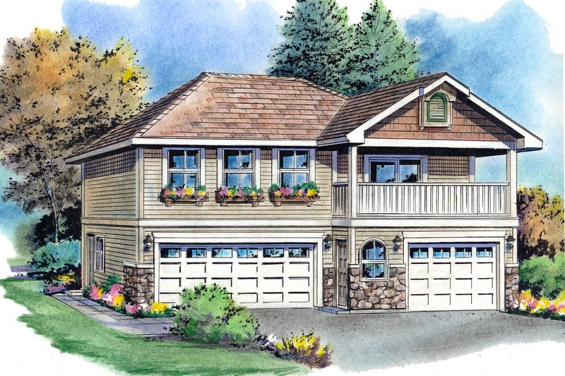 Traditional Exterior - Front Elevation Plan #18-319