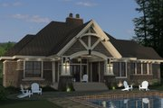 Craftsman Style House Plan - 3 Beds 3 Baths 2177 Sq/Ft Plan #51-571 Exterior - Rear Elevation
