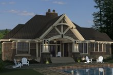 Home Plan - Craftsman Exterior - Rear Elevation Plan #51-571