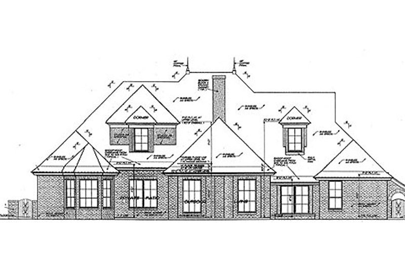 European Exterior - Rear Elevation Plan #310-961 - Houseplans.com