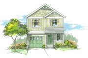 Craftsman Style House Plan - 3 Beds 2.5 Baths 1418 Sq/Ft Plan #53-528 Exterior - Front Elevation
