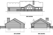 Ranch Style House Plan - 2 Beds 2 Baths 1636 Sq/Ft Plan #100-442 Exterior - Rear Elevation