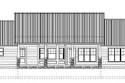Ranch Style House Plan - 2 Beds 3 Baths 1730 Sq/Ft Plan #126-163 Exterior - Rear Elevation