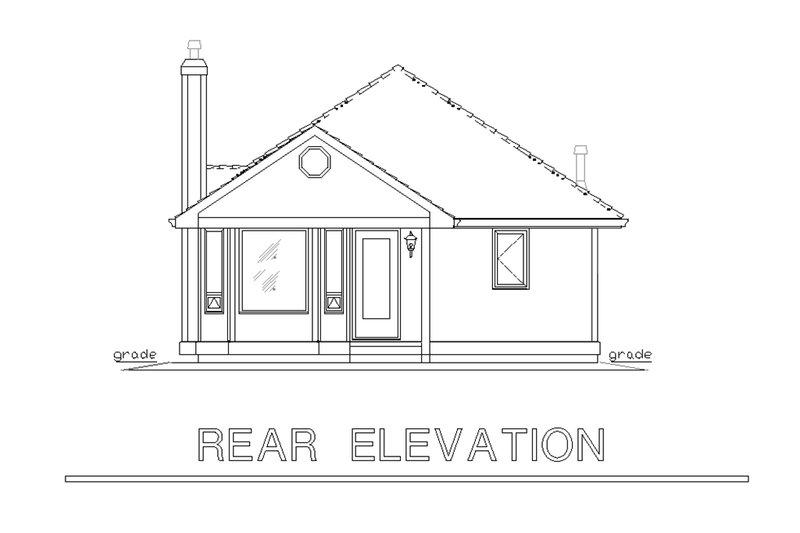 Traditional Exterior - Rear Elevation Plan #18-1040 - Houseplans.com