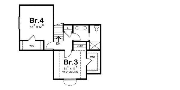 European Floor Plan - Upper Floor Plan Plan #20-2073