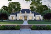 Southern Style House Plan - 4 Beds 3 Baths 3170 Sq/Ft Plan #1074-11 Exterior - Front Elevation