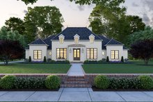 Southern Exterior - Front Elevation Plan #1074-11