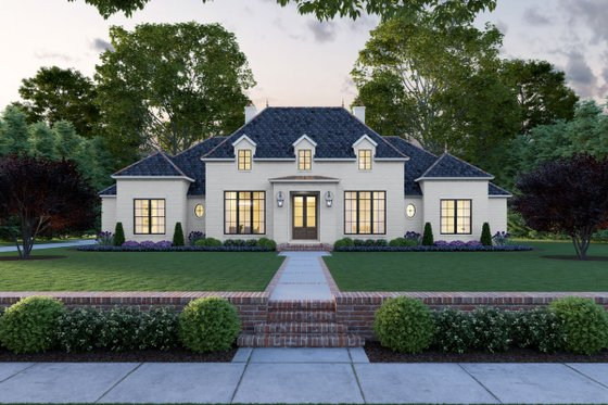 Home Plan - Southern Exterior - Front Elevation Plan #1074-11