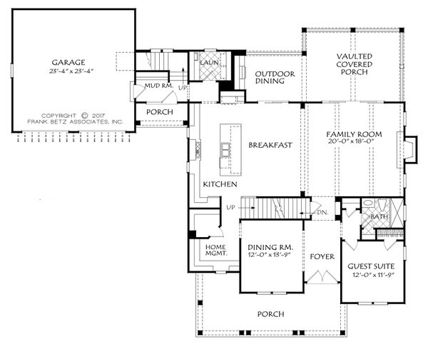 Farmhouse Style House Plan - 5 Beds 4 Baths 3210 Sq/Ft Plan #927-992 Floor Plan - Main Floor Plan