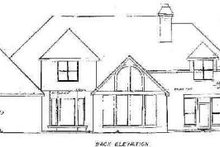 Architectural House Design - European Exterior - Rear Elevation Plan #52-139