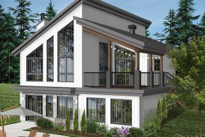 Home Plan Design - Cottage Exterior - Rear Elevation Plan #23-2713