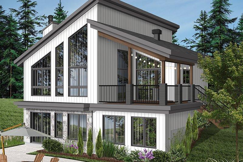 House Plan Design - Cottage Exterior - Rear Elevation Plan #23-2713