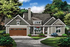 Ranch Exterior - Front Elevation Plan #929-1067
