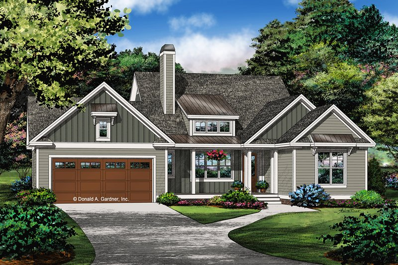 Dream House Plan - Ranch Exterior - Front Elevation Plan #929-1067