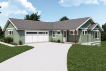 Dream House Plan - Craftsman Exterior - Front Elevation Plan #1070-130