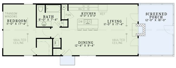 Home Plan - Cabin Floor Plan - Main Floor Plan #17-3417