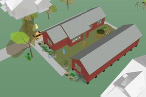 Modern Exterior - Outdoor Living Plan #460-9