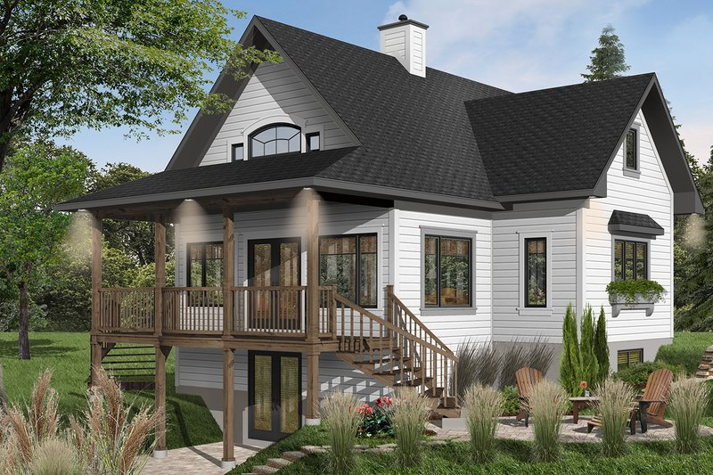 Country Exterior - Front Elevation Plan #23-757