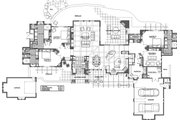 Mediterranean Style House Plan - 3 Beds 3.5 Baths 3574 Sq/Ft Plan #892-31 Floor Plan - Main Floor Plan