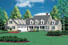 Colonial Exterior - Front Elevation Plan #48-147