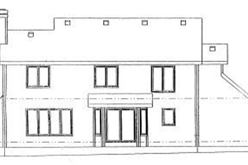 Traditional Exterior - Rear Elevation Plan #20-749 - Houseplans.com