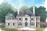Classical Style House Plan - 4 Beds 4.5 Baths 4364 Sq/Ft Plan #119-113 Exterior - Front Elevation