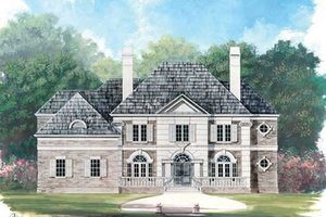 Classical Exterior - Front Elevation Plan #119-113