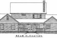 Country Exterior - Rear Elevation Plan #11-121