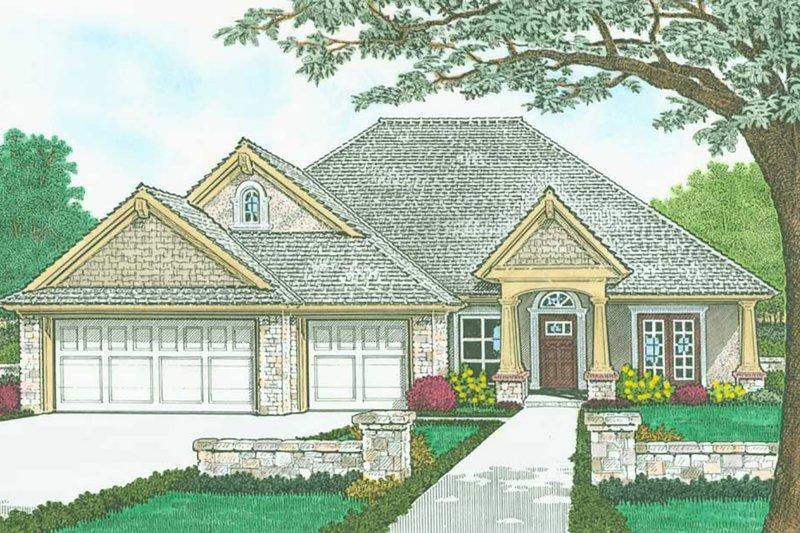 Home Plan - Craftsman Exterior - Front Elevation Plan #310-1320