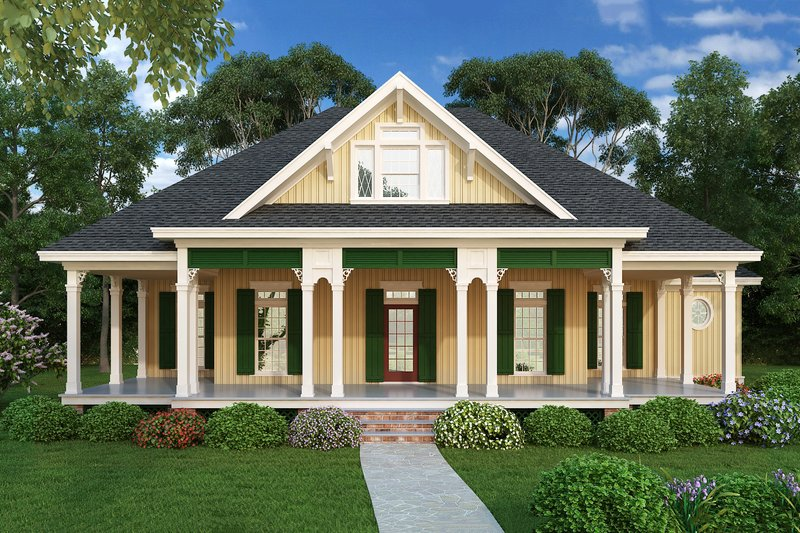Southern Exterior - Front Elevation Plan #45-376 - Houseplans.com