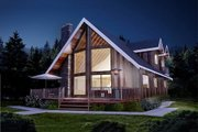Cabin Style House Plan - 2 Beds 2 Baths 1677 Sq/Ft Plan #126-173 Exterior - Front Elevation