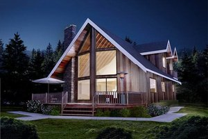 Cabin design, Mountain style, elevation