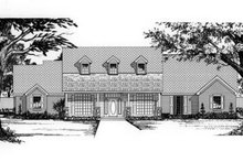 Country Exterior - Front Elevation Plan #62-122