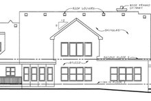 Dream House Plan - Traditional Exterior - Rear Elevation Plan #20-1555