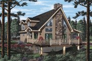 Cottage Style House Plan - 2 Beds 2 Baths 1550 Sq/Ft Plan #126-217 Exterior - Front Elevation