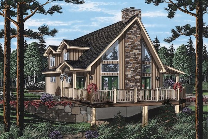 Cottage Style House Plan - 2 Beds 2 Baths 1550 Sq/Ft Plan #126-217