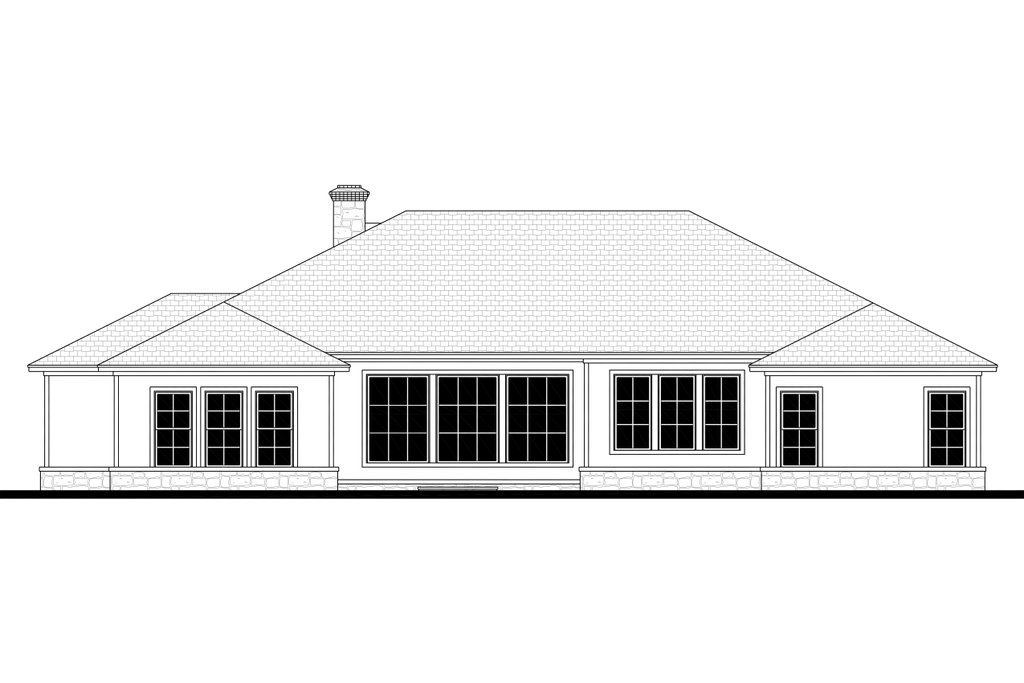 ranch style house plan - 4 beds 3 5 baths 3044 sq  ft plan  430-186
