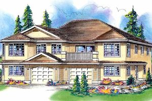 European Exterior - Front Elevation Plan #18-246