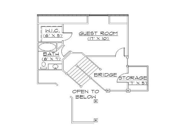 European Floor Plan - Upper Floor Plan Plan #5-389