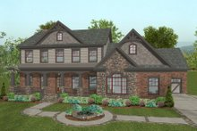Dream House Plan - Craftsman Exterior - Front Elevation Plan #56-586