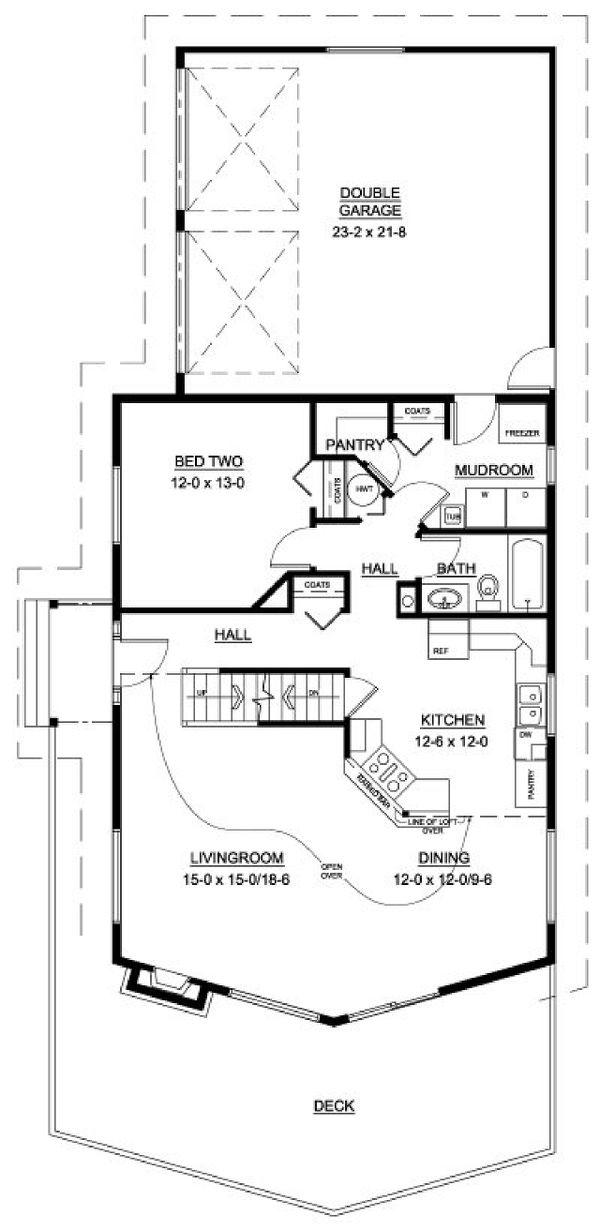Home Plan - Country Floor Plan - Main Floor Plan #126-230