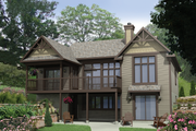 Country Style House Plan - 2 Beds 1 Baths 1133 Sq/Ft Plan #25-4571 Exterior - Front Elevation