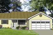 Ranch Style House Plan - 4 Beds 2 Baths 1040 Sq/Ft Plan #116-244 Exterior - Front Elevation