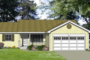 Ranch Exterior - Front Elevation Plan #116-244