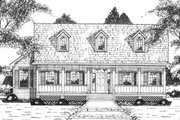 Country Style House Plan - 4 Beds 3 Baths 2426 Sq/Ft Plan #36-350 Exterior - Front Elevation