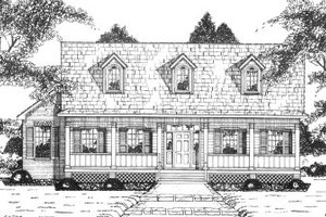 Country Exterior - Front Elevation Plan #36-350